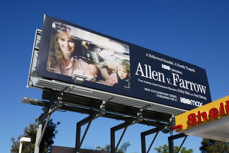 Allen v Farrow docuseries billboard