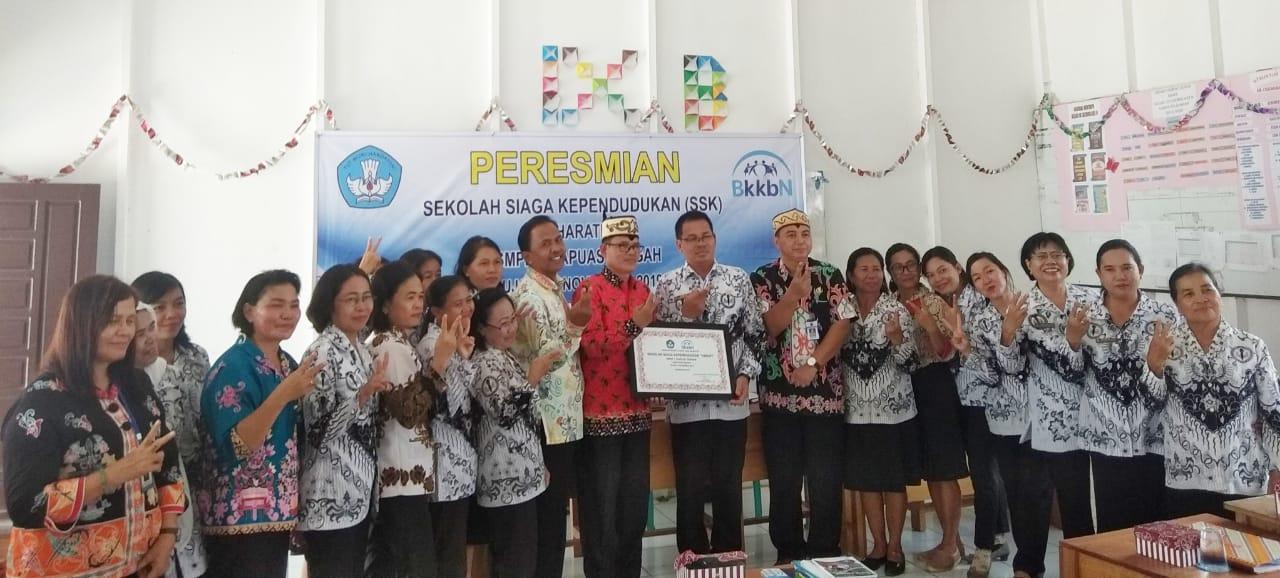 SMPN 1 Kapuas Tengah Pilot Project Sentral Sekolah Siaga Kependudukan