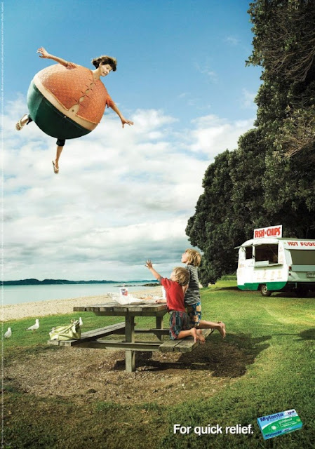 Реклама фармацевтического препарата от вздутия живота