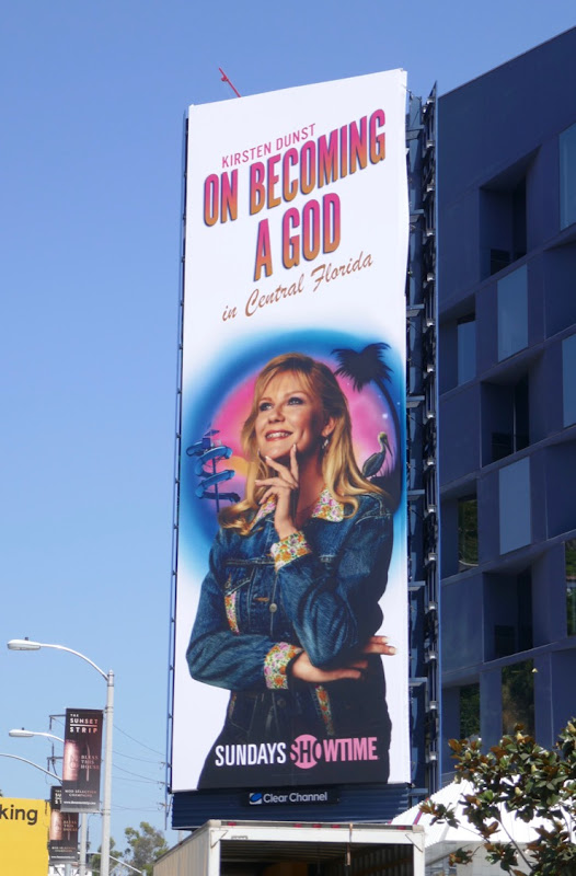 On Becoming a God Showtime series billboard
