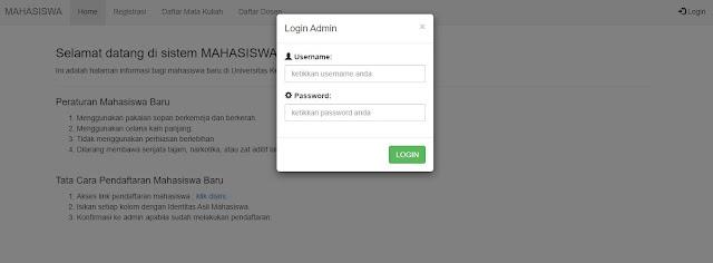 Membuat Modal Login dengan Bootstrap, PHP dan HTML