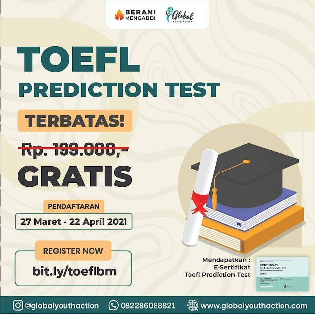 (GRATIS E-Sertifikat) TOEFL Prediction Test