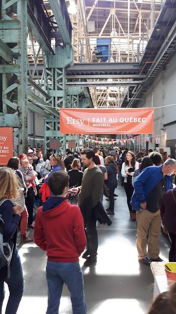 Etsy événement à Montréal entrée foule