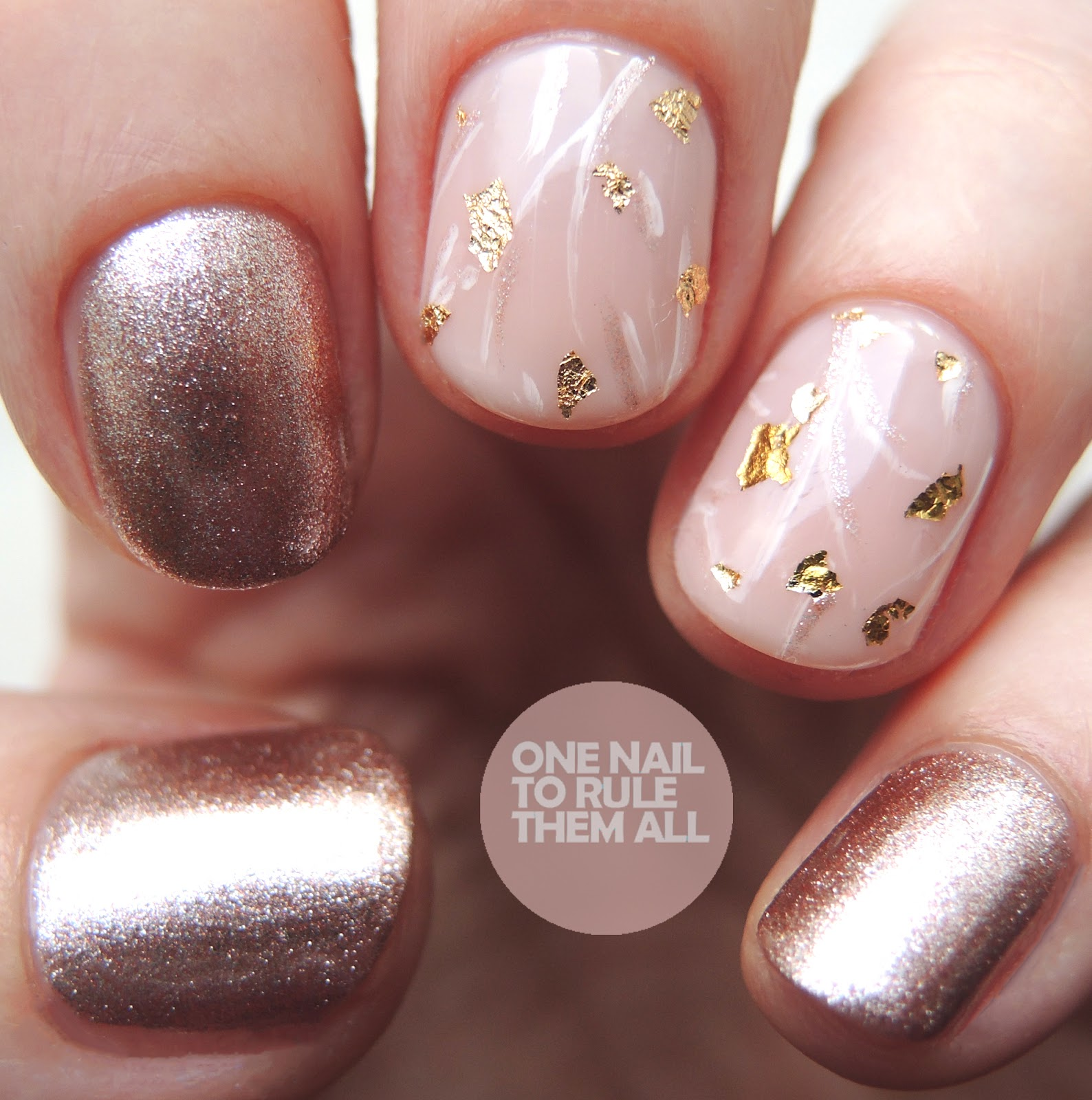 One Nail To Rule Them All Rose Gold Quartz