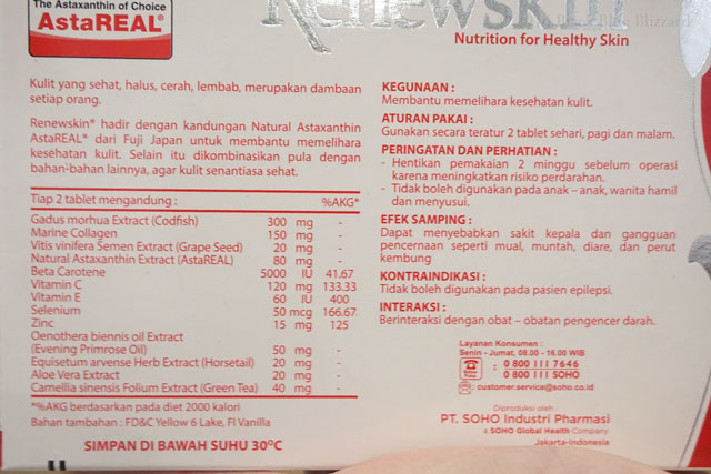 manfaat renewskin, cara pakai renewskin, efek samping renewskin, astaReal Renewskin, Bahan renewskin, renewskin ingredients, review renewskin blogger