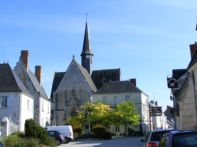 View of the church in Sainte Catherine de Fierbois, Indre et Loire, France. Photo by Loire Valley Time Travel.