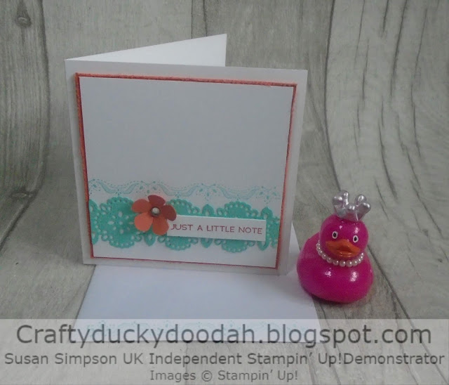 Craftyduckydoodah!, A Little Lace, Susan Simpson UK Independent Stampin' Up! Demonstrator, Supplies available 24/7 from my online store, CAS,