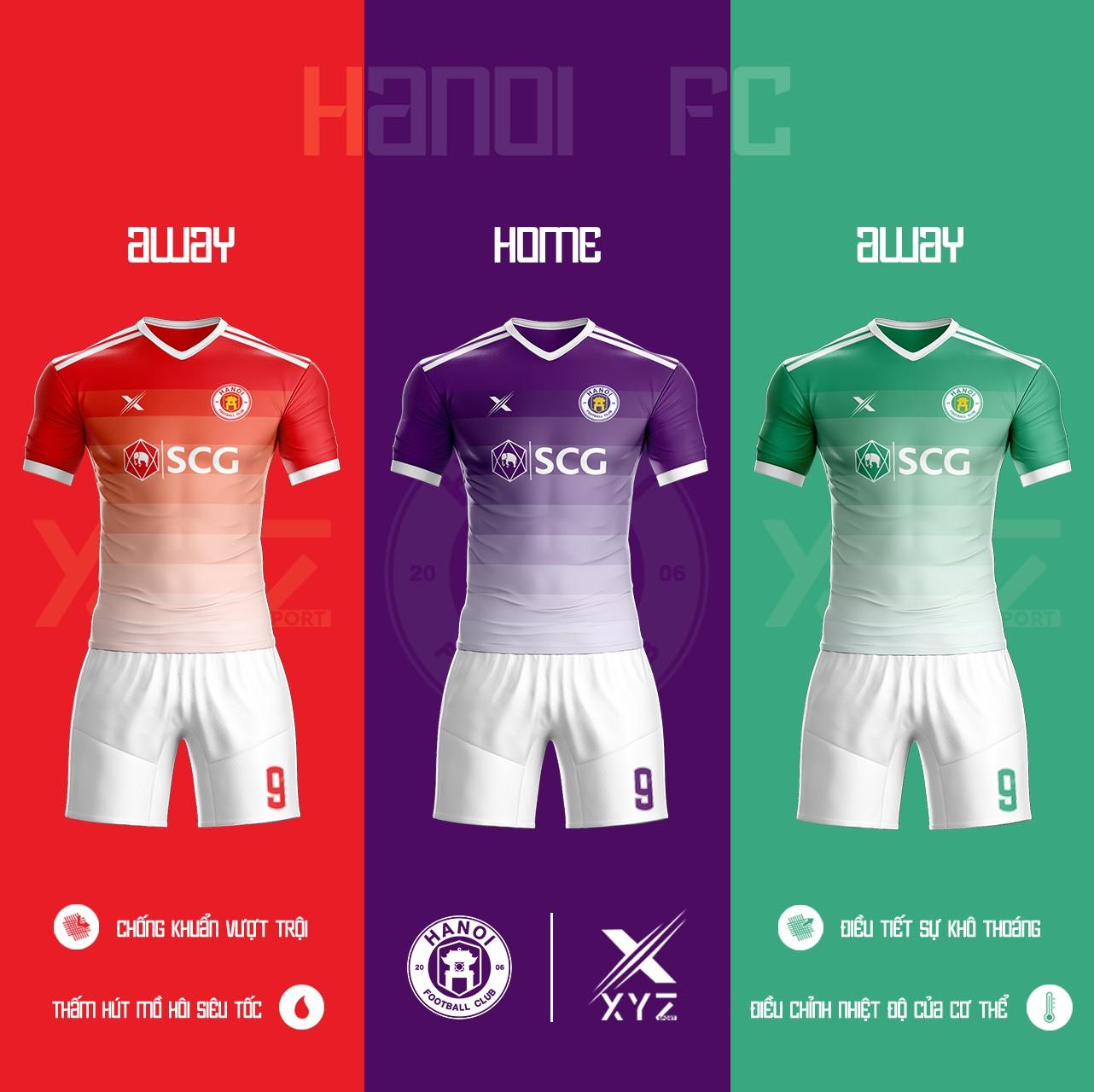 Áo Đấu Bóng Đá Hà Nội FC Tự Thiết Kế Đẹp Và Độc - Mã HN01