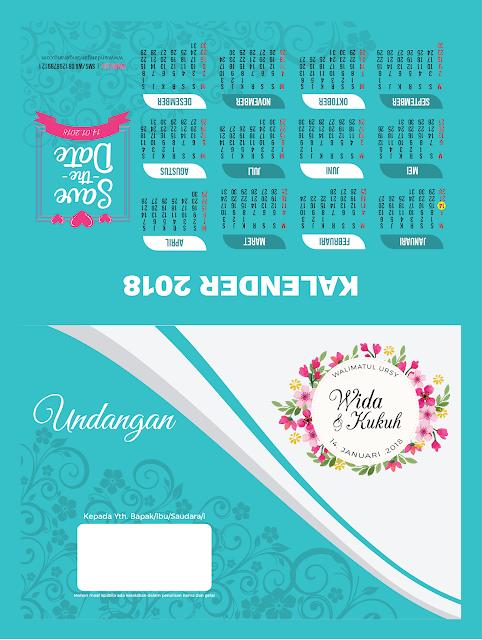 Undangan Pernikahan Bertema di Florist dan Warna Biru - Walimahanid | 081211418687