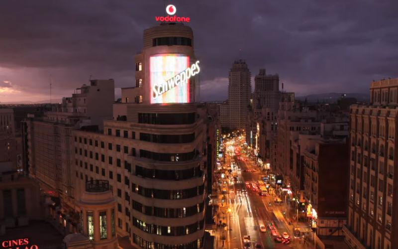 La Gran Vía de Madrid desde las alturas