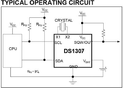 DS1307 RTC circuit PIC18F4550