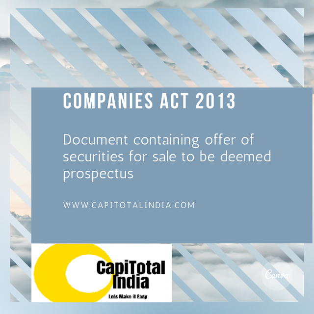 Document containing offer of securities for sale to be deemed prospectus