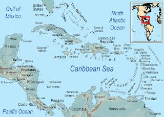 Vị trí địa lý của vùng Caribbean