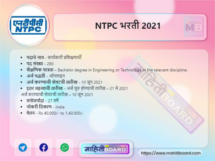 NTPC Bharti 2021
