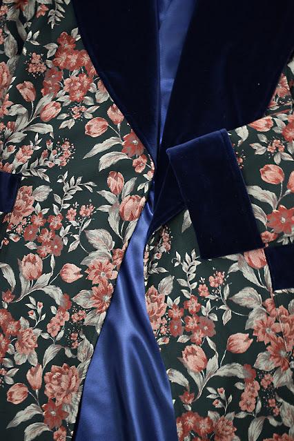mens luxury silk dressing gown jacquard cotton robe velvet