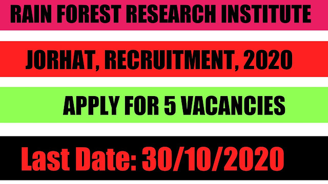 Rain Forest Research Institute, Jorhat , Recruitment