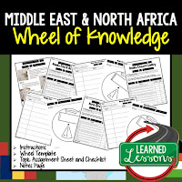 Middle East Activity, World Geography Activity, World Geography Interactive Notebook, World Geography Wheel of Knowledge (Interactive Notebook)
