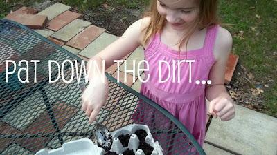 Egg carton gardening with kids.