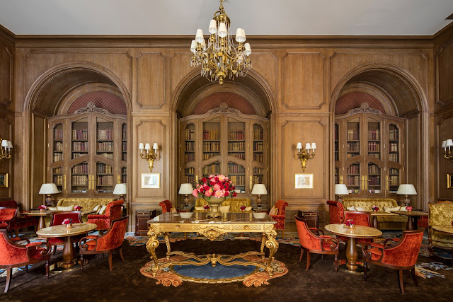 Breathtaking luxurious dining area in renovated Ritz Paris