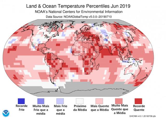 Temperatura Global Junho 2019