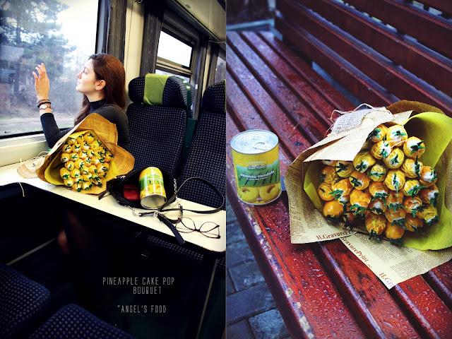 Buchet din cake pops cu ananas, cadoul perfect pentru cei dragi♥️