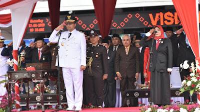 Upacara HUT RI 74 di NTB berlangsung khidmat, Gubernur Zul Ajak Masyarakat NTB terus Bangkit