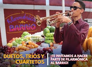 "CONVOCATORIA ""Filarmonica al Barrio 2020"""