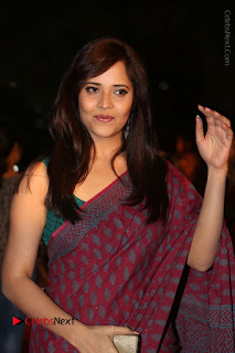 Telugu Television Anchor Anasuya Stills in Saree at Gemini TV Puraskaralu 2016 Event  0010.JPG