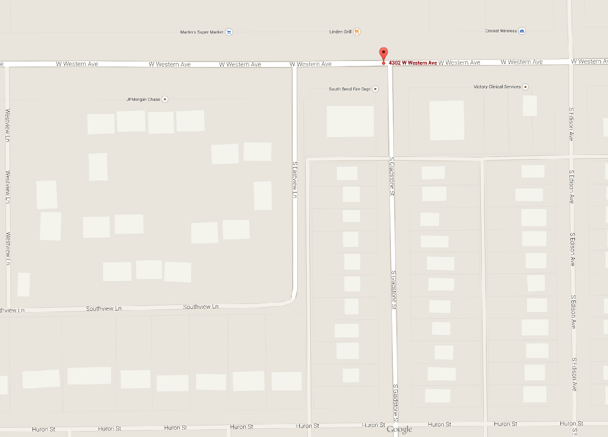 google map of western and gladstone area