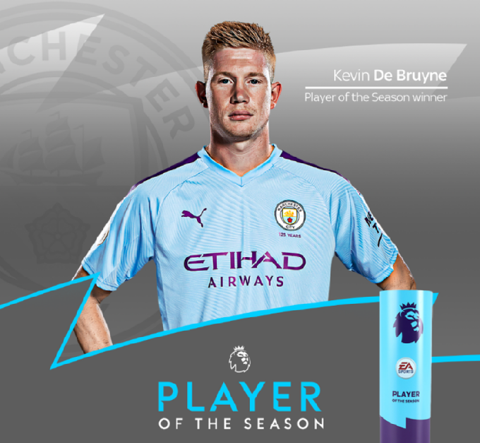 BREAKING: Kevin De Bruyne has been crowned the Premier League Player of the Season 👑