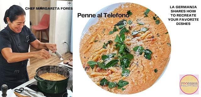 La Germania with Chef Margarita Forés  with signature dish Penne al Telefono