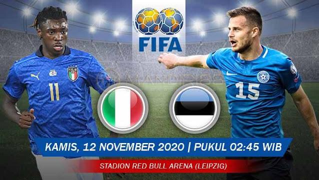 Prediksi Italia Vs Estonia, Kamis 12 November 2020 Pukul 02.45 WIB @ Mola TV