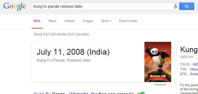 Find a release date using Google