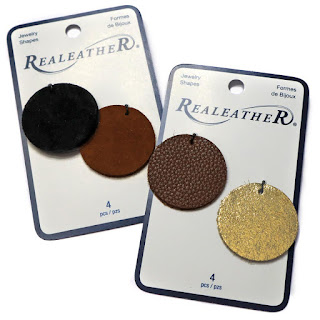 Realeather Round Jewelry Shapes in packaging