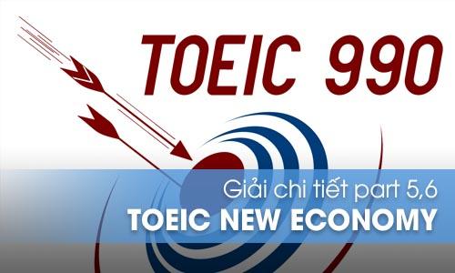 Giải chi tiết Part 5, 6 bộ đề thi New Economy Toeic