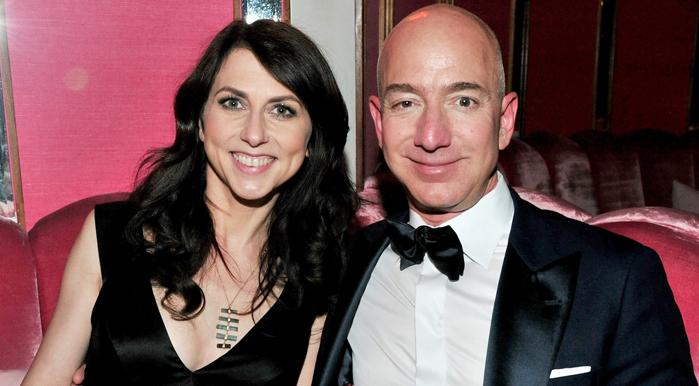 McKenzie Scott and Jeff Bezos of Amazon