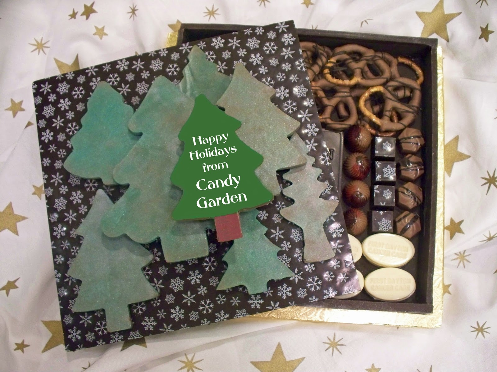 Handmade Chocolates Decorated With Chocolate Transfer Sheets