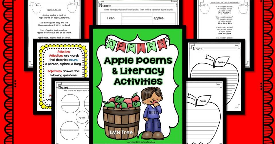 Classroom Freebies: Apple Poems And Literacy Activities