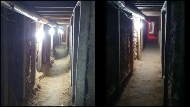 """video: Como """"El Chapo"""", así es el túnel de más de 110 metros de largo que hicieron en Celaya para robar 600 millones de pesos a la empresa SEPSA"""