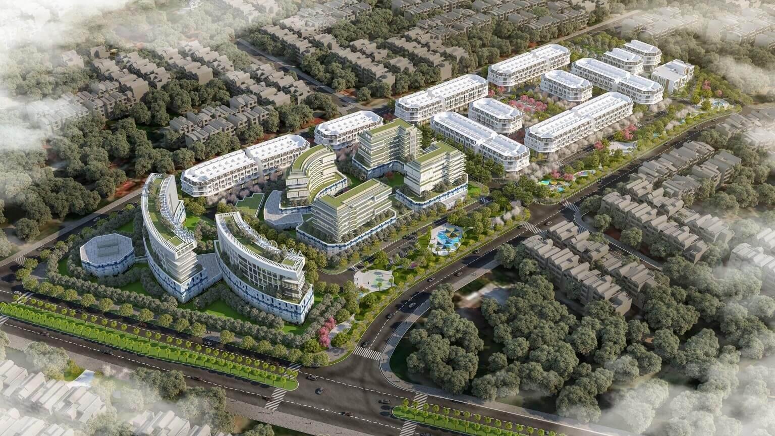 Phối cảnh tổng thể dự án biệt thự, liền kề Calyx Residence.