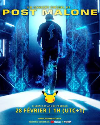 Le concert virtuel P25 : la musique de Post Malone pour les 25 ans de Pokémon