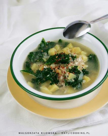 przepis na zupę ziemniaczaną, przepis na krupnik, jak się gotuje krupnik, daylicooking