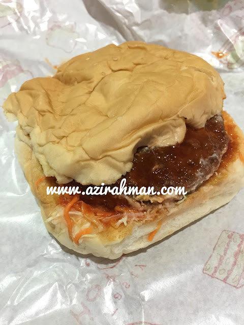 burger sempoi, burger sedap, berger senang nak buat, makanan ringan, makanan segera