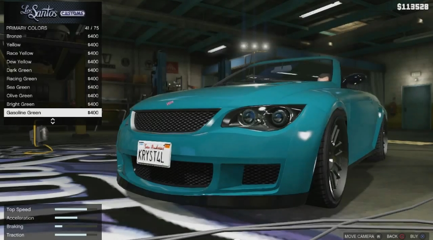 Car Customization Returns In Grand Theft Auto V And Has A Lot More Depth To It Than Did San Andreas Players Can Change Paint Jobs Rims