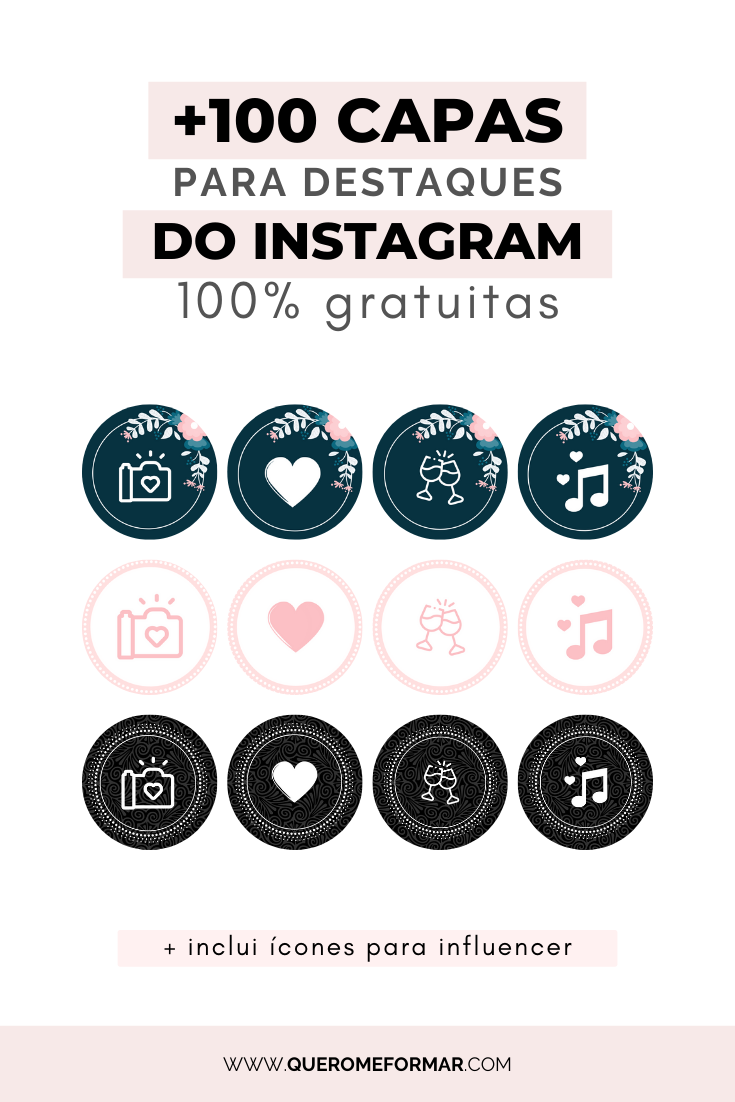 Destaques do Instagram - Ícones