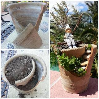 Diy decorazione giardino riciclo creativo colla a caldo