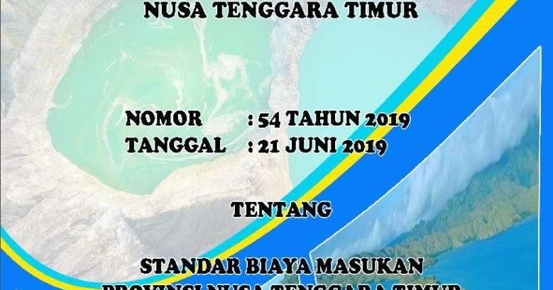 STANDAR HARGA BARANG DAN JASA T.A 2020 PEMPROV NTT