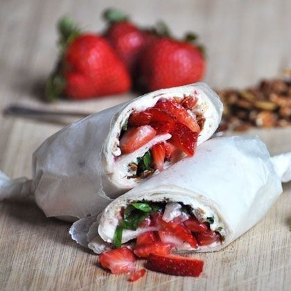 Strawberry Granola Wrap