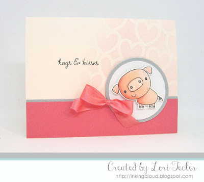 Hogs & Kisses card-designed by Lori Tecler/Inking Aloud-stamps from Reverse Confetti