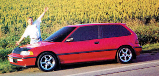 picture of Dustin Culton and his 1990 Red Honda Civic
